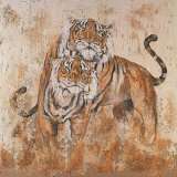 Les Tigres II Prints by Carole Ivoy