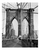 Brooklyn Bridge Pier or Tower - New York - B/W Photograph Photographic Print by DW labs