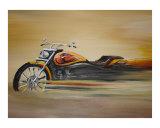 Fast Harley Giclee Print by JETINDER MARJARA