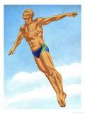 Man Diving Prints