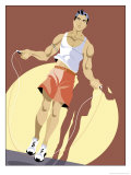 Man Jumping Rope Poster
