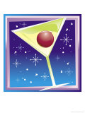 Martini Glass with Ornament Inside Prints