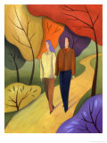 Couple Walking Through Forest Art