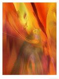 Red Heat Texture Affiche