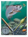 Fishing Montage Print