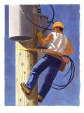 A Man Repairing a Transformer Art