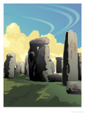 A View of Stonehenge in Southern England Posters