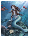 A Mermaid in the Ocean Affiches