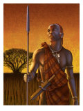 An African Warrior Posters