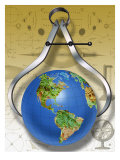 Calipers Measuring the Earth Giclee Print