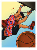Person Dunking Ball Affiches
