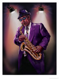 African-American Saxophone Player Posters