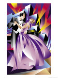 Elegant Couple Dancing Prints
