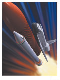 Space Shuttle Taking Off Affiches