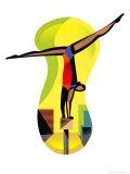 Gymnast on Balance Beam Prints