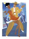 Harlem Renaissance Dancing Couple Giclee Print