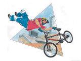 Boy on Stunt Bike Posters