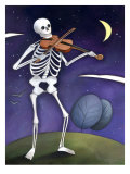 Skeleton Playing a Violin, Day of the Dead, Dia de los Muertos Poster