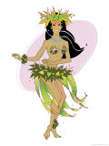 Danseuse de Hula Affiches