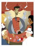 Shady Casino Dealer Giclee Print