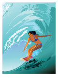 Female Surfer Posters