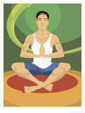 Man Doing Yoga Prints