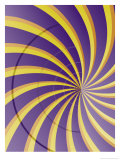 Swirly Purple Texture Posters