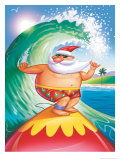 Surfing Santa Posters
