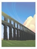Roman Aqueducts Giclee Print