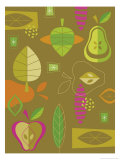 Fruit and Leaf Texture Print