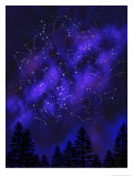 Constellations Texture Affiche