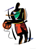 Basketball Player Print