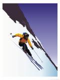 Skieur en descente Art