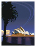 A View of the Sydney Opera House in Sydney, Australia Affiches