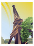 A View of the Eiffel Tower Affiches