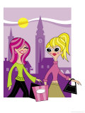Women Shopping Overseas Posters