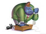 Gorilla as Angry Businessman Prints