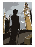 British Male in Suit, Big Ben Posters