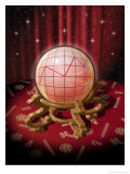 A Crystal Ball with a Graph Affiches