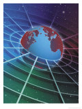 Earth in a Grid Poster