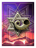 The Star of David with a Shofar Coming out of the Center Poster