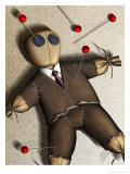 Businessman Voodoo Doll Giclee Print