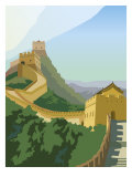 A View of the Great Wall of China - Art Print