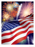 4th of July Fireworks Giclee Print