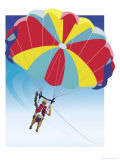 Man Parasailing Prints