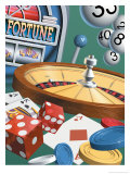 "Texture, Gambling Montage, ""Fortune,"" ""$"" Affiches"