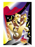 Theater Masks Affiche