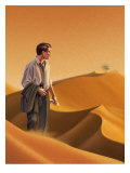 Businessman in Desert Affiche
