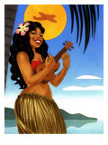 Hula Girl Affiche
