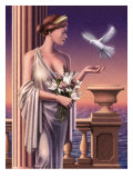 Aphrodite Feeding a Dove Posters